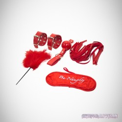 BDSM SEX KIT Bracelet+Whip+Goggles+Feather+Mouth Ball Gag BDSM-001