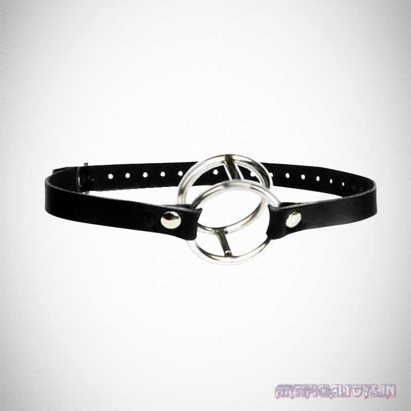 Double Metal Ring Gag for Him & Her BDSM-003